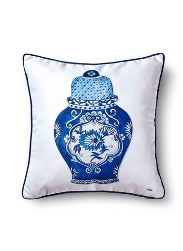 The Mia Dekoratif yastık 50 x 50 Cm Renkli